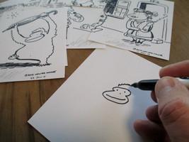 Spanish Apes: Habilitar. Original Signed Cartoon by Walter Moore image 2