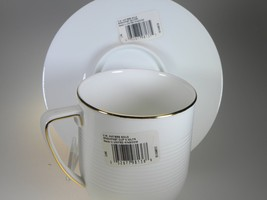 Vera Wang By Wedgwood Antibes Gold Breakfast Cup & Saucer NEW WITH TAGS image 2