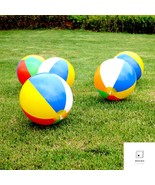 For Summer Inflatable Beach Ball Rainbow-Color Outdoor Swimming - $12.99