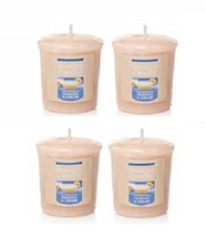 Yankee Candle Peaches & Cream Votive Candle - Lot of 4 - $16.99