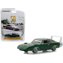 1969 Dodge Charger Daytona Mod Top Green with White Stripe - $29.70