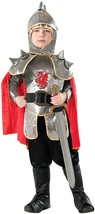 Silver Knight Medieval Guard Warrior Fancy Dress Up Halloween Child Costume - $39.99