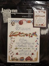Janlynn A Sons Smile 5673 Counted Cross Stitch Kit 14 Count Aida 11 x 15... - $19.79