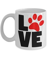 I Love My Pet Cat Dog Coffee Mug - $15.99