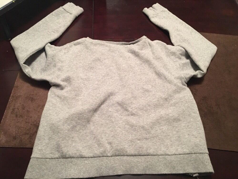H M Divided Sweat Shirt With Zippers Sz XS