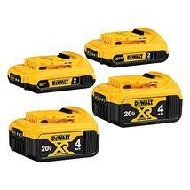 DEWALT 20V MAX Battery, Lithium Ion, 4-Ah & 2-Ah, 4-Pack (DCB3244) - $264.57