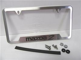 OEM 2011-2015 Mazda 2 Hatchback H/B Stainless Steel License Plate Frame Mazda2 - $39.99