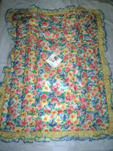 "Baby Comforter Bright Floral Print By Clothworks, Inc.,32"" x 38"" W/3"" R... - $79.99"
