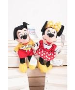 Disney Store Mini Bean Bag Plush Spirit Mickey And Minnie Mouse Set Vint... - $22.76