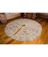 "Christmas Tree Skirt 48"" Ruffled Burlap Country Farmhouse - $39.59"