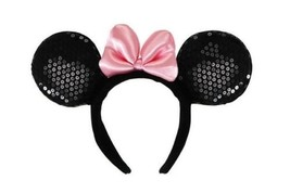 Walt Disney Minnie Mouse Deluxe Ears, Headband & Pink Bow Costume Access... - $13.54
