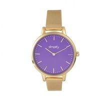 Simplify The 5800 Mesh Bracelet Watch - Gold/Purple - £124.22 GBP