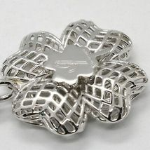 Keyring Argento 925 Pendant with Four-Leaf Clover by Maria Ielpo , Made in Italy image 3