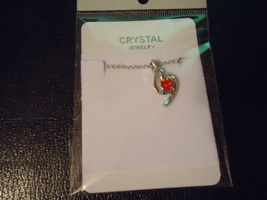Silver Plated Red Cz Necklace Combined Shipping !! - $3.49