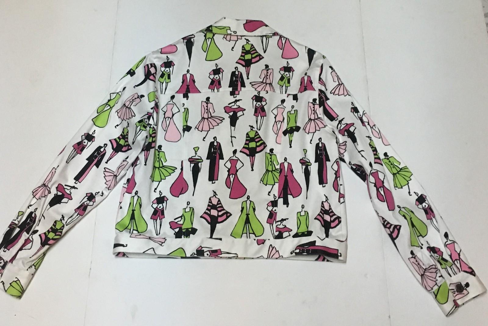 Mechant Fashion Cropped Jacket SZ 12/14 Light Weight Made USA