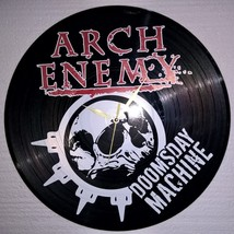 VINYL PLANET Wall Clock  ARCH ENEMY Home Record Unique Decor upcycled - $26.93