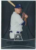 MIKE MOUSTAKAS RC 2010 Bowman Platinum Prospects #PP9 Kansas City Royals... - $3.25