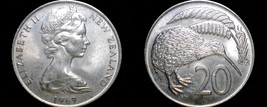 1969 New Zealand 20 Cents World Coin - $3.99