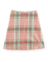 NEW Boden Wool Pink Lois Check A Line  Skirt Size US 6 * - $39.55