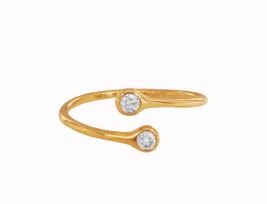 Tiffany & Co. Elsa Peretti Rose Gold Diamond Hoop Ring - $830.00