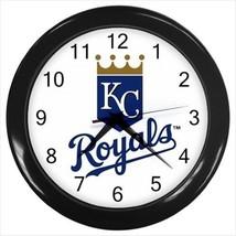 Kansas City Royals Wall Clock (Black) - MLB Baseball - $17.41
