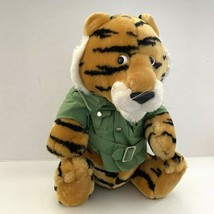 Vintage 1987 DAKIN Fun Farm Safari Tiger Plush with Original Jacket - $24.74