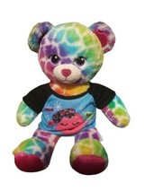 Build A Bear Leopard Wild Style Cheetah Plush Cat Rainbow Spots PJ Shirt - $9.89