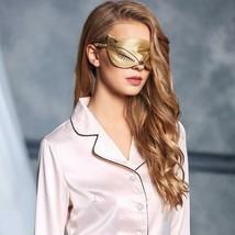100% Natural Silk Sleeping Eye Mask Sexy Fox Eye Shade Sleep Mask Black ... - $17.12 CAD
