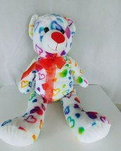 "Dan Dee Collector's Choice White with hearts 24"" Soft Teddy Bear - $14.03"