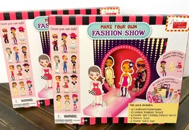 Make Your Own Fashion Show Craft Themed Party Paper Dolls Clothes Aha! 2... - $9.89