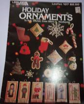 Leisure Arts Holiday Ornaments to Knit Crochet Cross Stitch & Needlepoint - $2.99