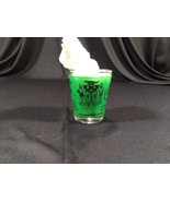 "Vintage Jamaica West Indies Green Shot Glass Collectible 2-1/4"" - $9.99"