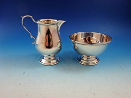 Vintage Sterling Silver Creamer and Sugar w/ Simple Design  - $295.00