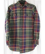 Ralph Lauren Rugby- RED/GREEN/NAVY/TAN FLANNEL PLAID BUTTON DOWN, WOMAN 6 - $24.75