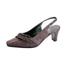 FLORAL Bloom Women Wide Width Falbala Trim With Rhinestone Slingback Shoes - $44.95