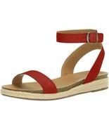 Women's Lucky Brand Garston Ankle Strap Sandal Garnet Posinato Leather R... - $44.84