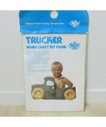 Vintage Summer Sky TRUCKER Home Craft Kit Precut Fabric Stuffable Toy De... - $29.65