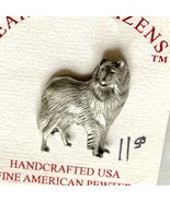 Pewter Collie Pin Brooch Earth's Citizens Handcrafted in USA Dogs - $12.86