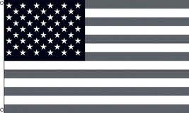 AMERICAN BLACK AND WHITE UNITED STATES 3 X 5 FLAG banner FL697 USA AMERICA - $6.60