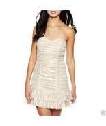 B.Wear Strapless Glitter Mesh Drop Waist Dress New Juniors Size 7 - $21.99