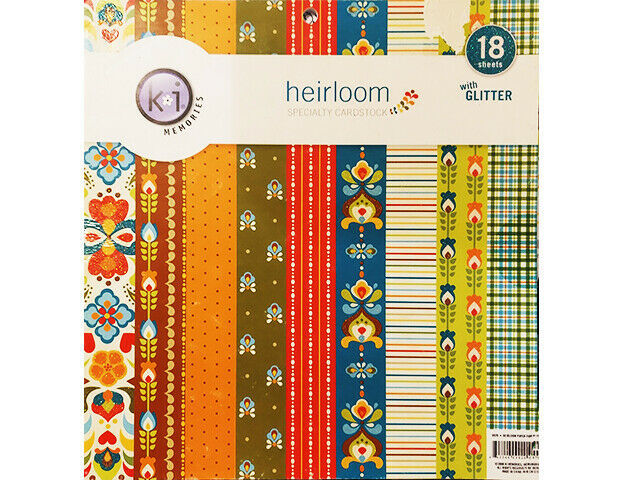 KI Memories Heirloom Specialty Cardstock 12x12 Paper Pad, 18 Sheets