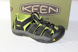 Keen Newport H2 Youth Sandal, Size 3Y, BLACK/LIME Green, 1009965 - $29.99