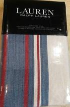 Ralph Lauren Home Kelsey Stripe One EURO Pillow Sham Cream Blue Red $135 - $45.49