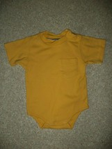 FIRST IMPRESSIONS yellow romper sz 12 mth infant boy - $1.97