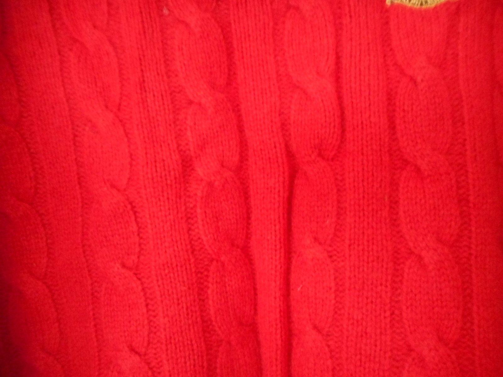 Vintage 100% Lambswool Lauren by Ralph Lauren Petite Red Crewneck Sweater Sz PS
