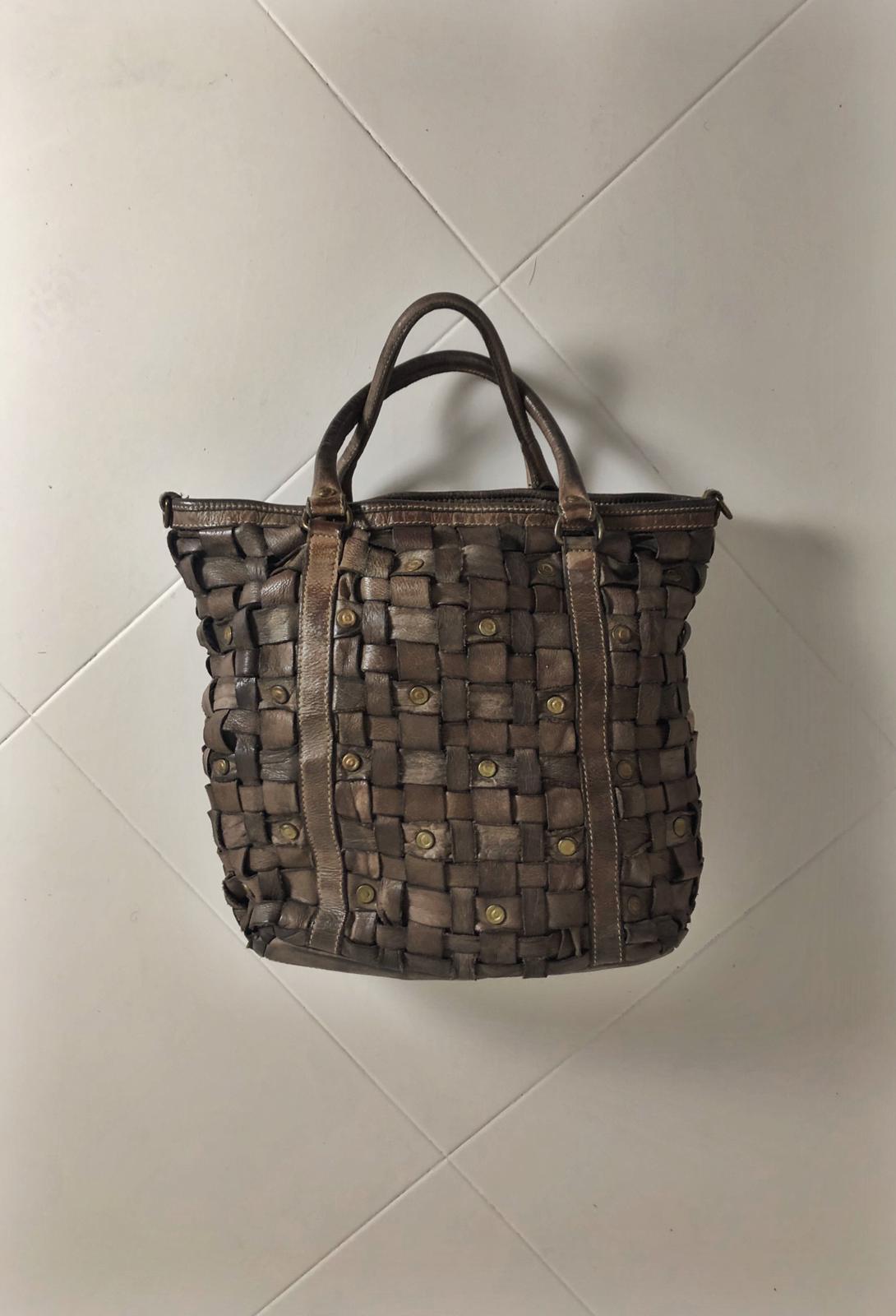 Intreccio 101 handmade woven leather bag  image 2