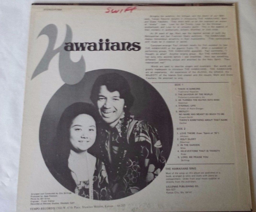 "Hawaiians Gospel R7054 12"" Vinyl Record"