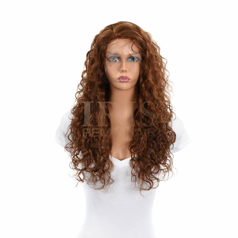 "JK TRADING IRIS FULL LACE 100% REMY HUMAN HAIR WIG ""RACHEL 24 INCH"""