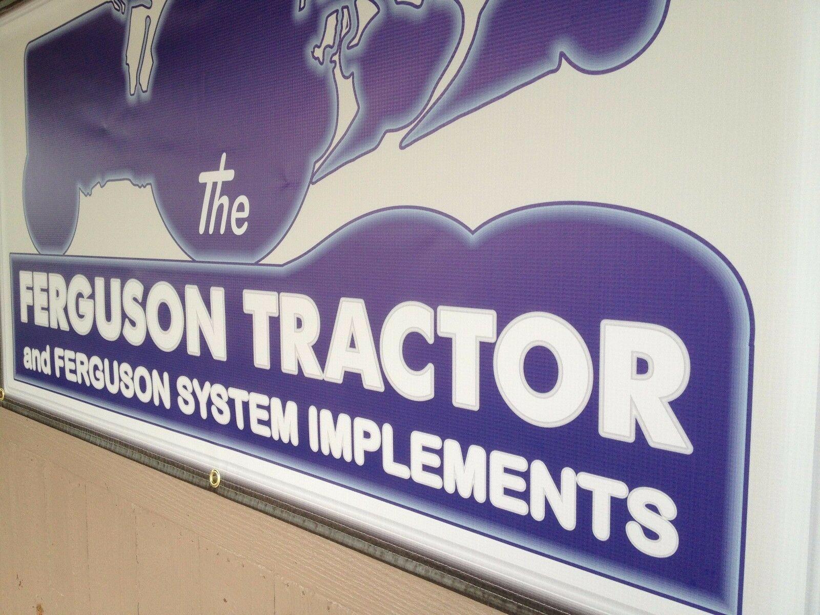 CO-OP FARMERS TRACTORS DEALER REMAKE NEON EFFECT PRINTED BANNER SIGN ART 4/' X 3/'