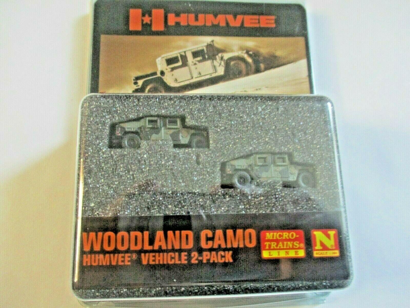 Micro-Trains # 49945954 Desert Camo Humvee Vehicle 2 Pack N-Scale